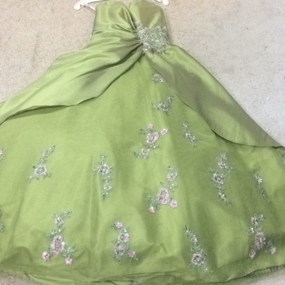Tiffany Designs Dresses & Skirts - Stunning olive green prom gown!